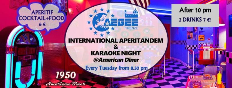 International AperiTandem +Karaoke 50's Style AEGEE Firenze